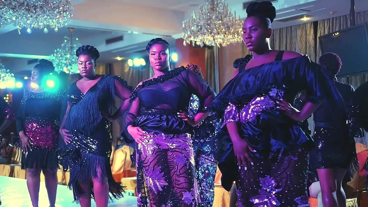 Some of the plus-size models at the show. Photo: BBC Africa