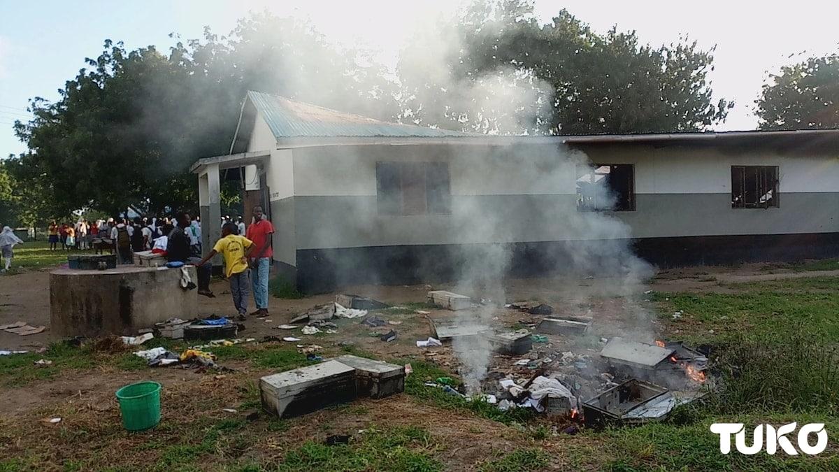 Night fire razes dormitory at Mokowe Secondary School in Lamu