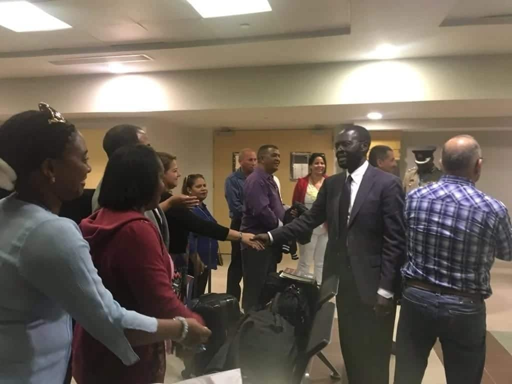 The first batch of the 100 Cuban doctors who were expected to come to Kenya landed at JKIA on Tuesday, June 5, and were welcomed by Governor Anyang' Nyong'o.