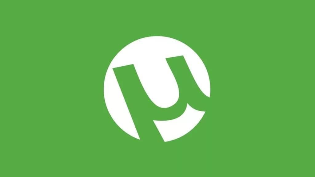 uTorrent logo on green background