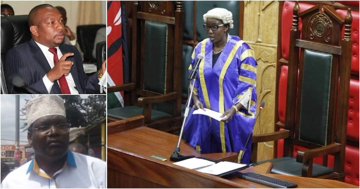 Nairobi County Assembly Speaker Beatrice Elachi (right) reportedly said lawyer Miguna Miguna (bottom left), who was nominated by Governor Mike Sonko (top left) will not be vetted until his citizenship saga is sorted out.