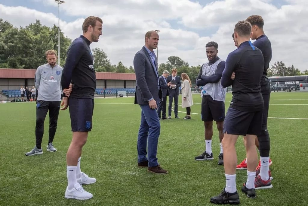 Prince William offers support to England international Danny Rose after opening up about depression battles