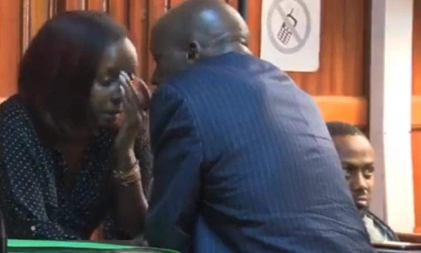 Jacque Maribe's dad wins hearts again by offering moral support to daughter in court