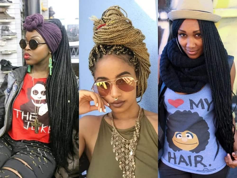 How To Style Long Braids Tuko Co Ke