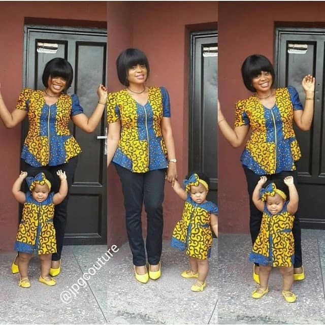 Ankara designs for mothers