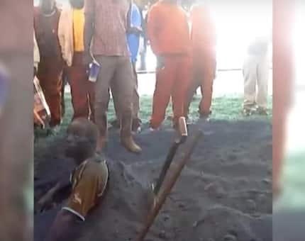 Thief that was almost killed by lynch mob claims he was POSSESSED by an evil spirit (photos, video)