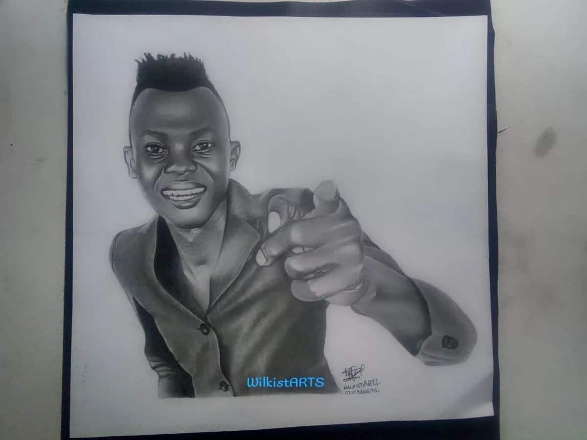 Kutana na binti katika Chuo Kikuu cha Nairobi gwiji wa uchoraji, amewachora maceleb wengi wa humu nchini
