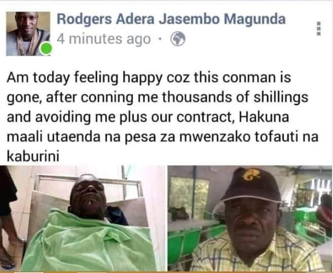 Mwanamme wa Mombasa awashangaza wengi kwa kusherehekea kifo cha mwanamziki aliyemtapeli