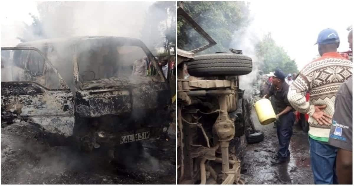 Matatu explodes with passengers inside along Juja Road