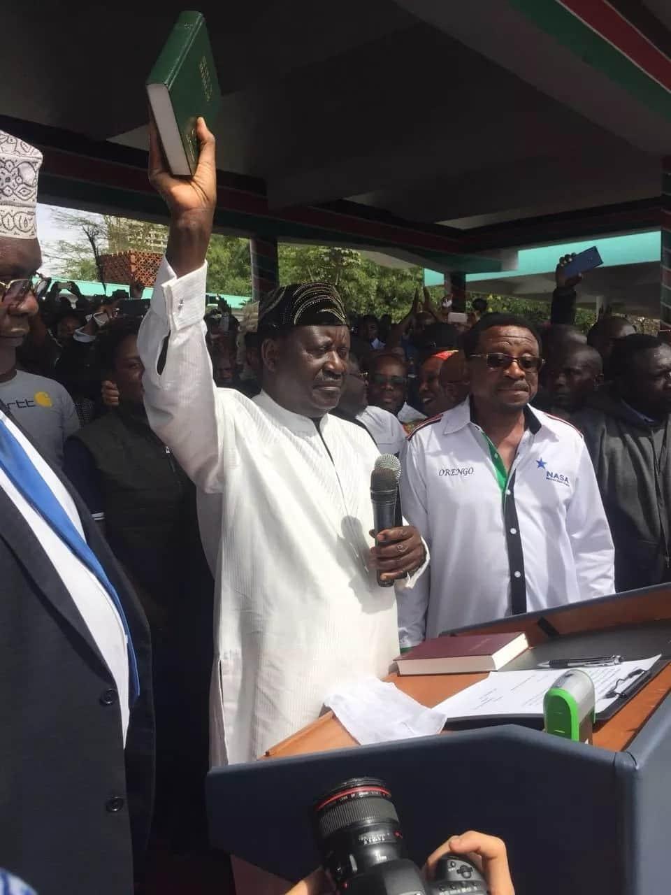Raila Odinga finally takes oath as the People's President