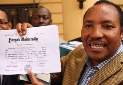 Surprise,suprise! Waititu graduates with a Masters degree(photos)