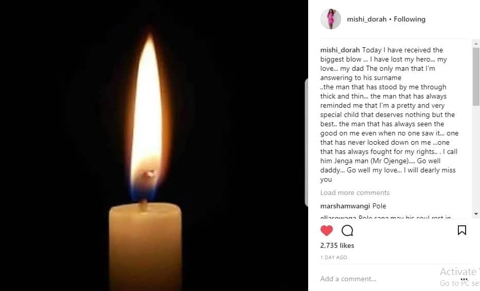 I have lost my hero, my love - Socialite Mishi Dora mourns her father