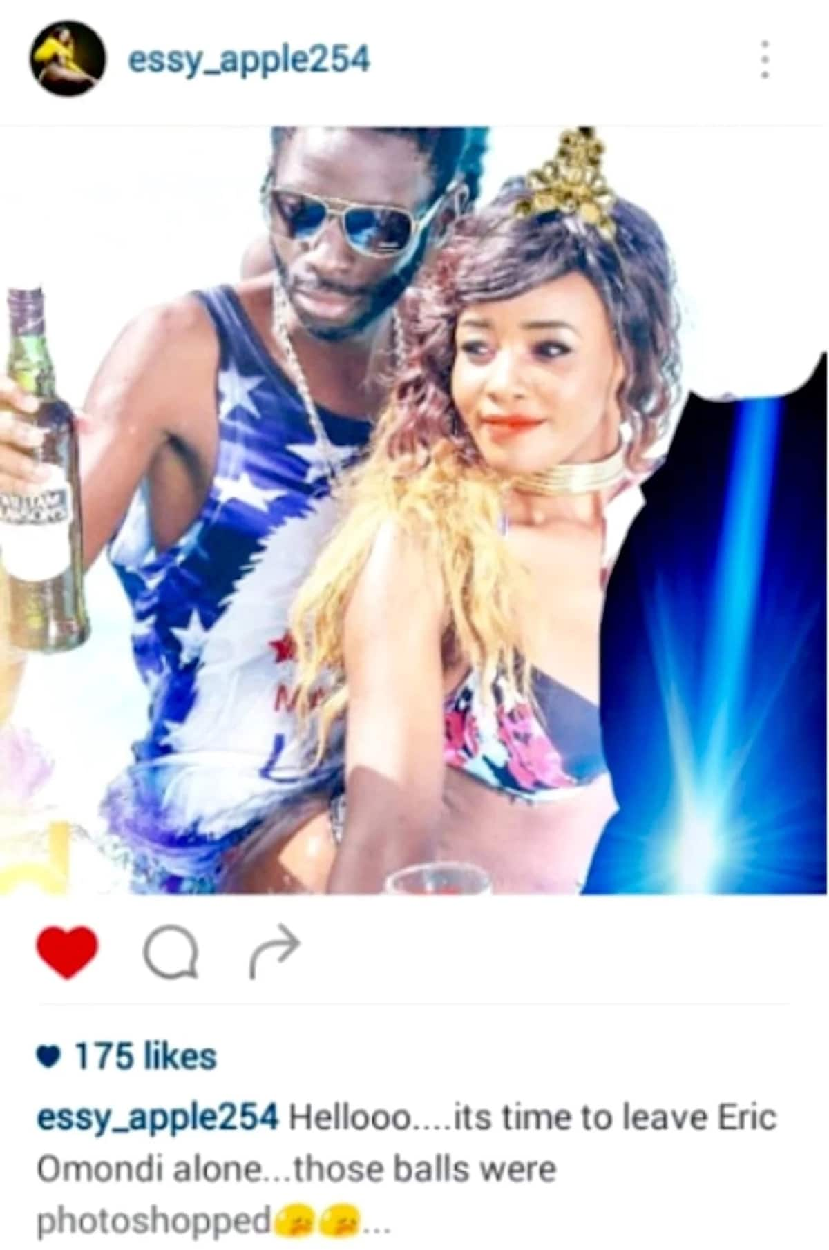 Socialite Essy Mimmo who knows Eric Omondi claims the comedian's viral huge cassava is fake