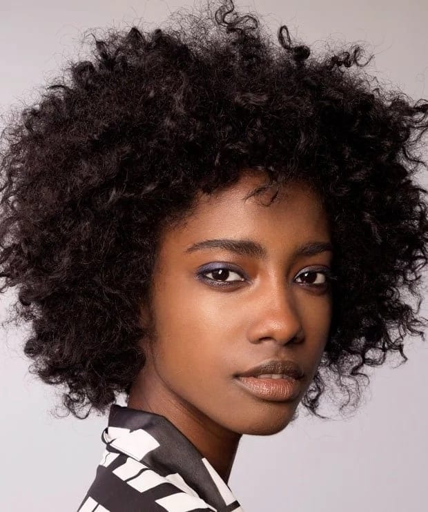 casual afro kinky hairstyles