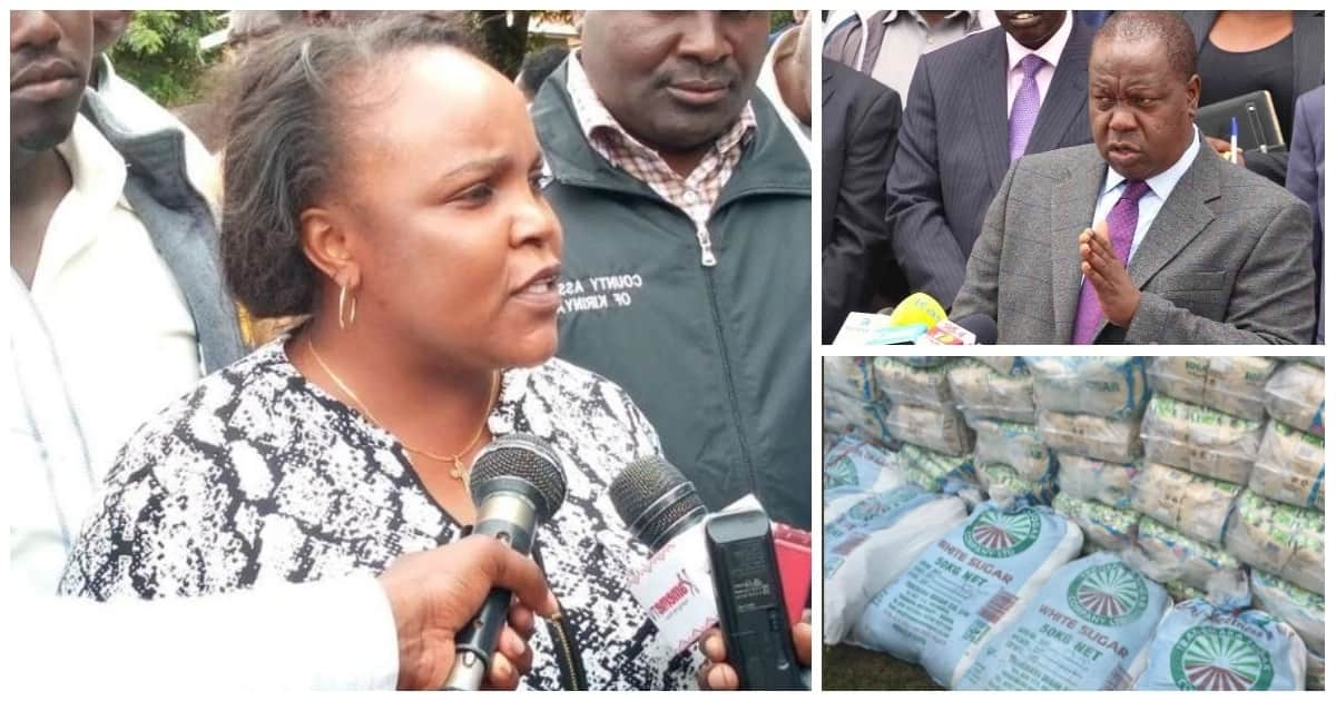 Give us names of those behind illegal sugar trade - Kirinyaga Woman Representative Wangui Ngirichi