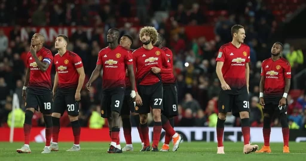 Manchester United knocked out of EFL Cup by Championship club Derby Club