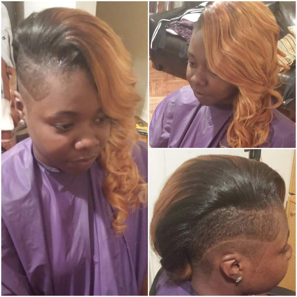 Sewin weave hairstyle