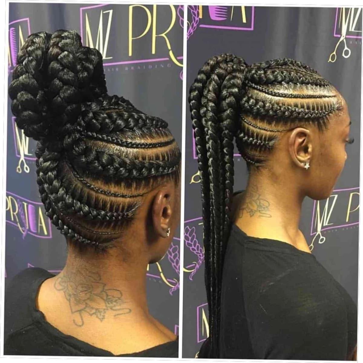 Fantastic 20 Best Cornrow Braid Hairstyles For Black Women With An Updo Schematic Wiring Diagrams Amerangerunnerswayorg