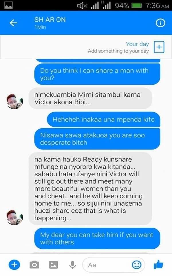I love your husband just like you do - Mpango Wa Kando tells wife in heated text exchange