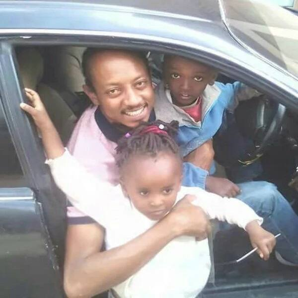 Mother-In-Law actor Ras warms hearts on social media as he flaunts his all grown up babies for the first time