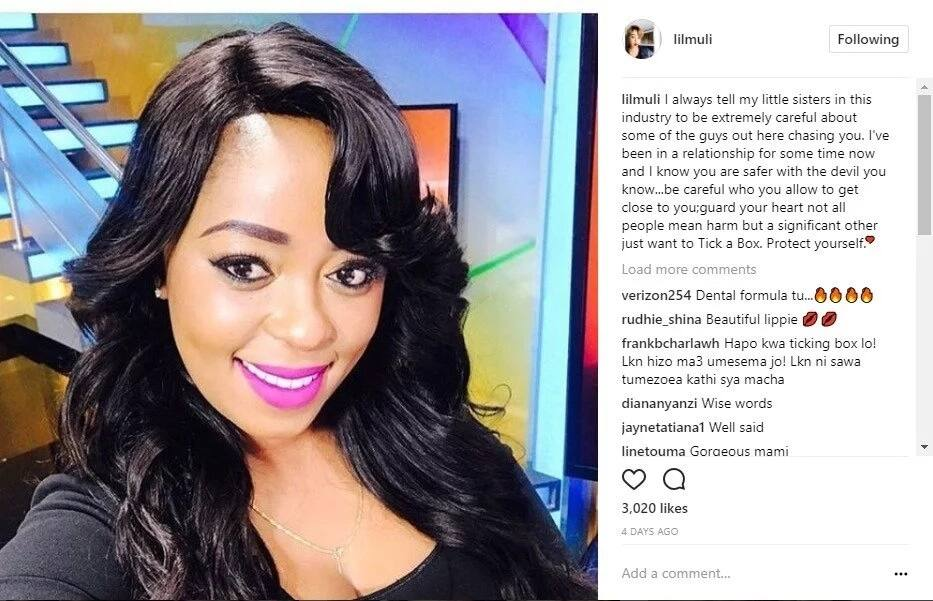 Its official, Citizen TV screen siren Lilian Muli is in a relationship after bitter divorce