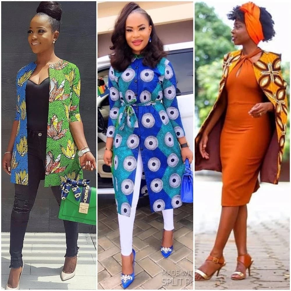 Latest Ankara jacket styles for ladies in Nigeria