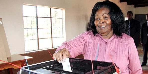 Former First lady the late Lucy Kibaki. Photo: Citizen.