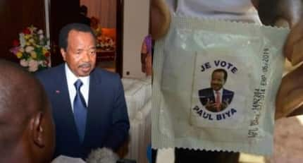 Cameroon's longest serving president distributes free branded condoms ahead of election