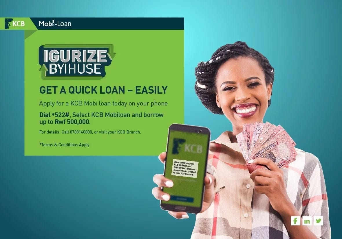 Thinking of a KCB mobi loan? Here are the interest rates, application guide & requirements