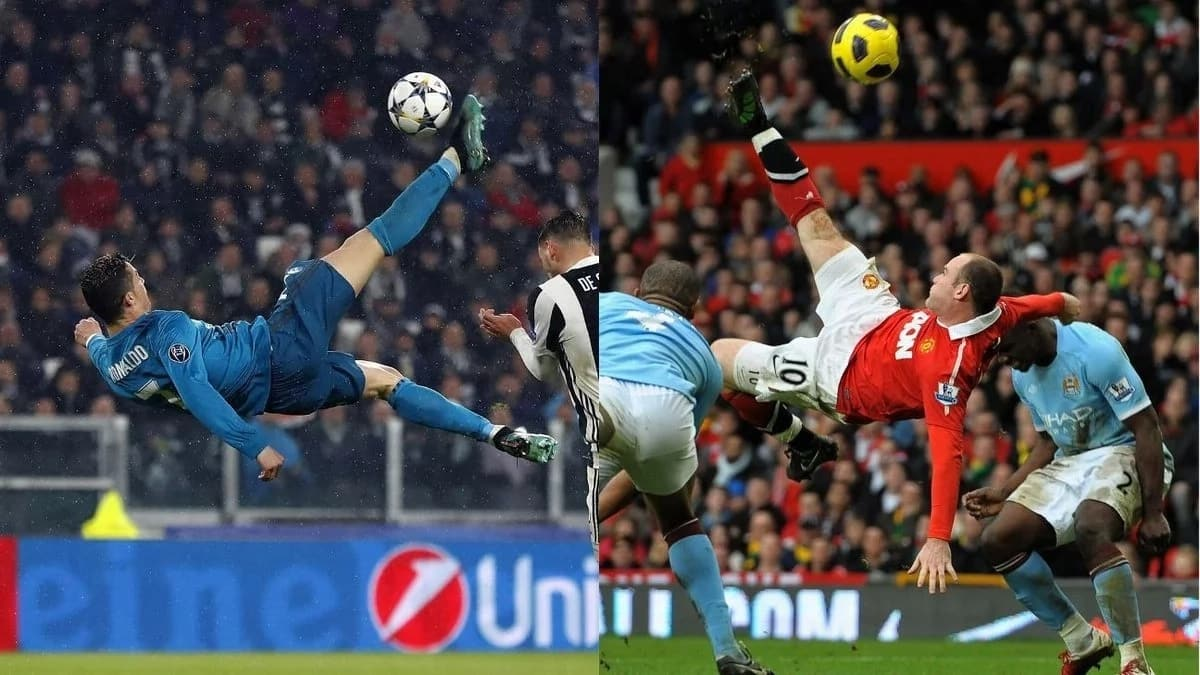 Rooney says he scored a better acrobatic goal than Ronaldo's