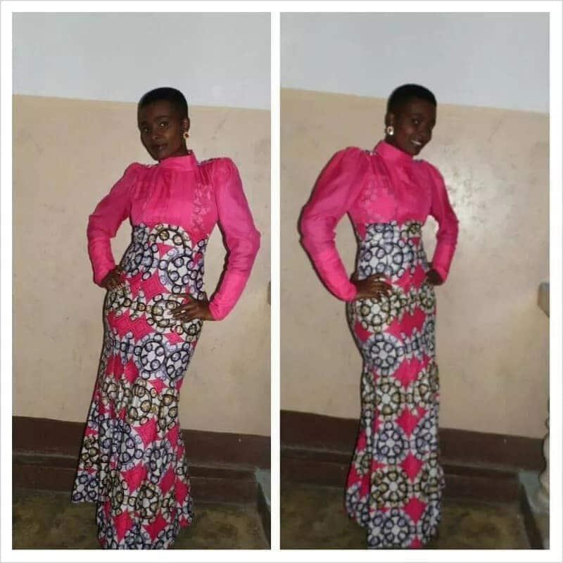 kitenge dresses with chiffon