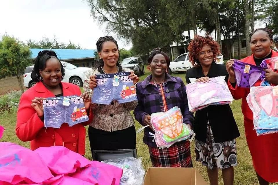 Backlash as Nyandarua First Lady distributes oversize underwear to school boys in empowerment drive