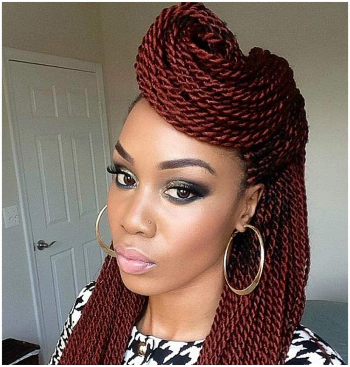 30 Gorgeous Twist Hairstyles For Natural Hair Easy Style Diffe