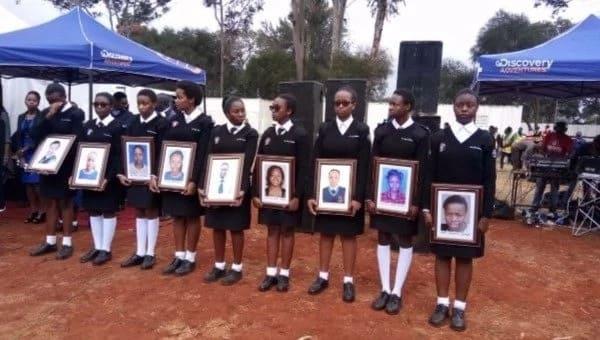 Emotions run high at memorial of Moi Girls High school fire victims (photos)