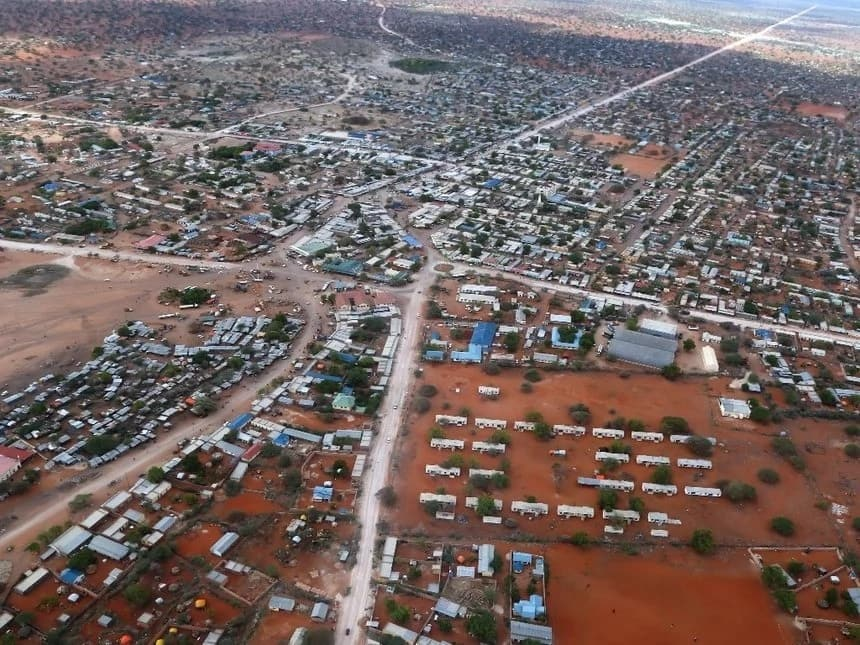 Largest county in Kenya in population, productivity & wealth- Aerial view of Wajir county
