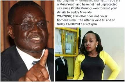 Happy Meru woman promises to break her virginity by 11th after Kiraitu Murungi defeated Munya