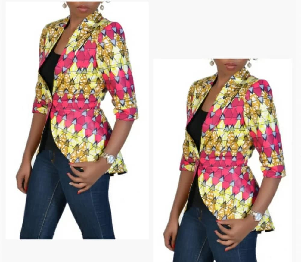 Kitenge coat designs for slim ladies