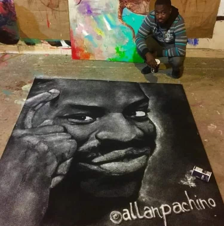 Young artist draws his way to fame using only salt, coffee, and baking soda