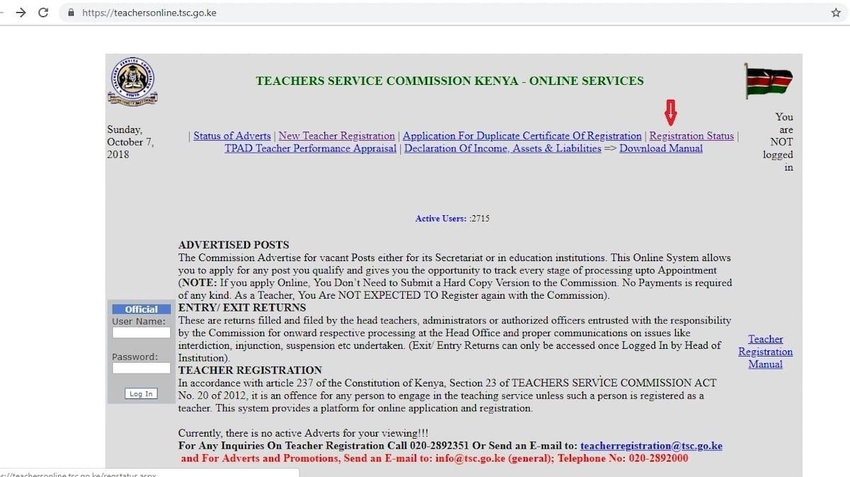 How to check your TSC online registration status ▷ Tuko co ke