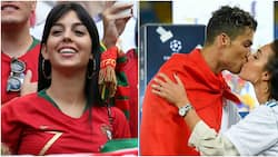 Photos of Cristiano Ronaldo's lover wildly cheering him on in Russia