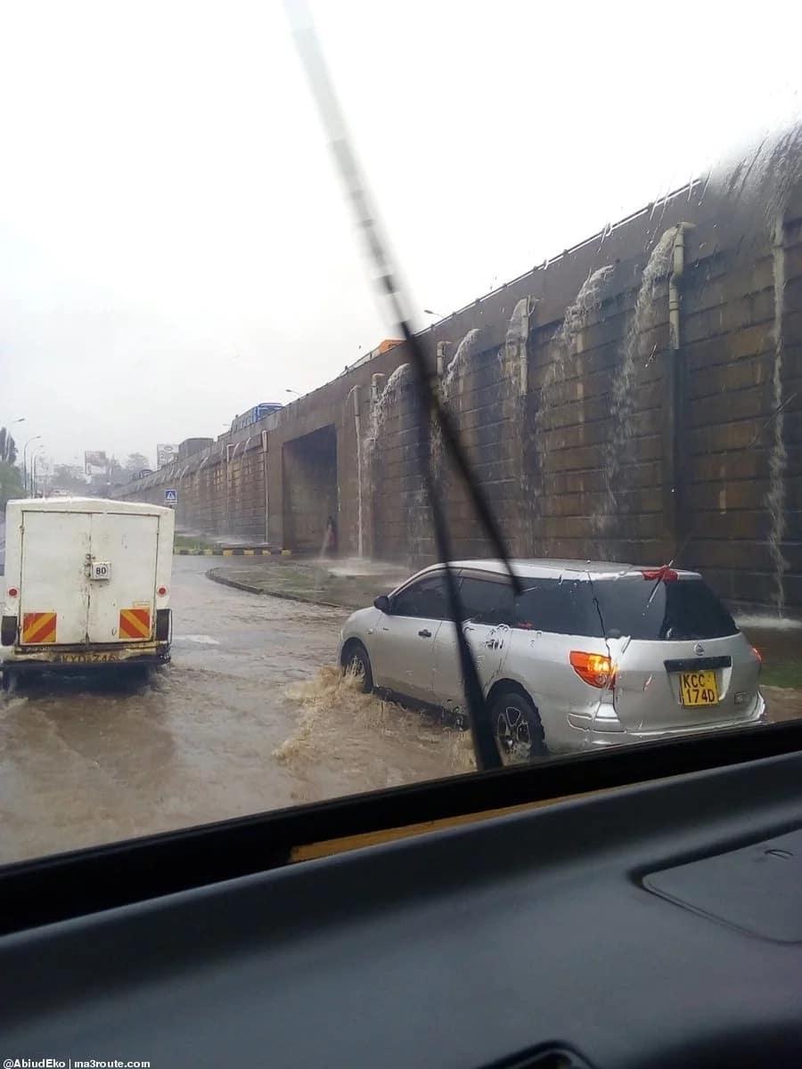 Heavy rains wreck havoc in Nairobi city as flash floods take over roads