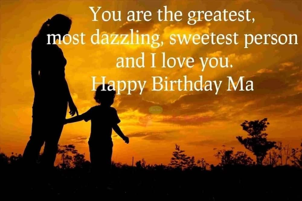 Awe Inspiring Sweet Happy Birthday Mom Messages And Quotes Tuko Co Ke Personalised Birthday Cards Beptaeletsinfo