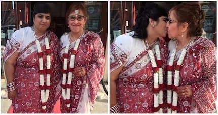 Hindu and Jewish couple ties the knot in rare interfaith lesbian wedding