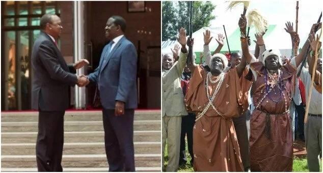 Image result for images of Mt Kenya elders with Uhuru