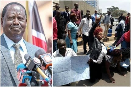 Stop looting and destroying private property, Raila begs supporters
