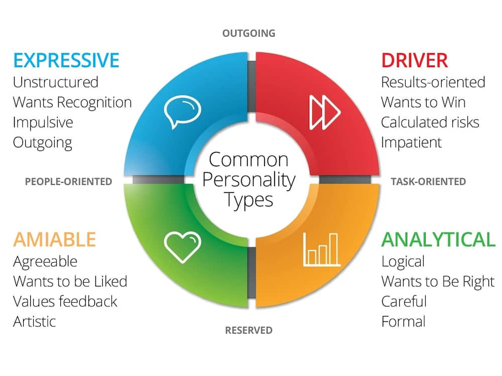 Four personality types and their traits