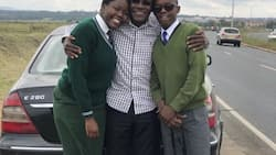 Boni Khalwale taking his kids to school is the cutest thing you will see