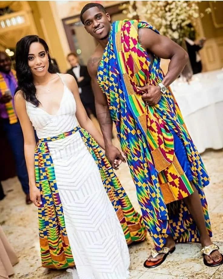 Kente wedding attire