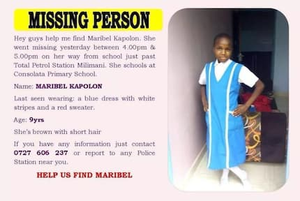 Meru family in desperate appeal to find girl who went missing on her way from school