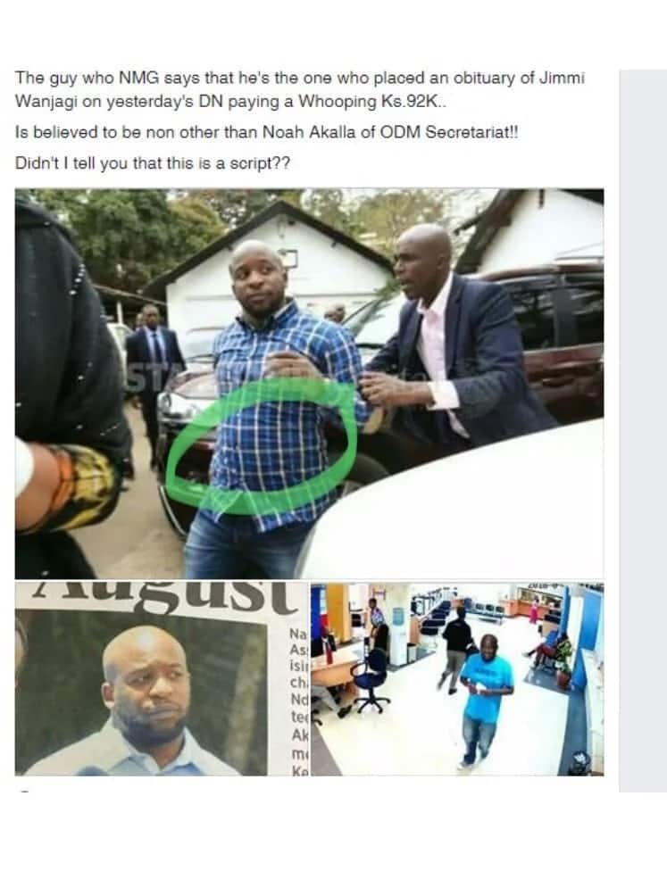 ODM man accused of presenting to Daily Nation a fake death announcement of NASA billionaire financier speaks